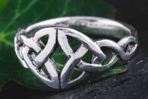 Freundschafts Damen Ring ~ NARIYA ~ 0.8 cm - Keltischer Liebesknoten - Silber - Windalf.de