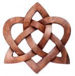 Celtic Holzbild ~ MIA ~ 23 cm - Keltischer Liebesknoten - Herz Wandrelief - Handarbeit aus Holz - Windalf.de