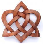 Wandbild ~ MIA ~ Keltischer Liebesknoten - Herz - aus Holz - Windalf.de