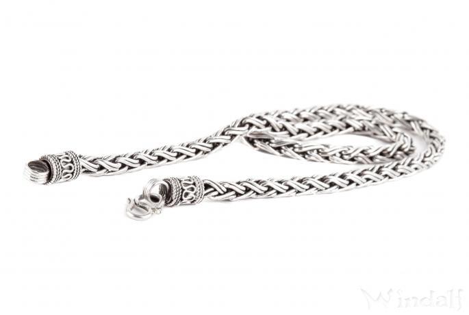 Wikinger Halskette ~ RAGNAR ~ 50 cm - Vikings - Handgeschmiedet - Silber - Windalf.de
