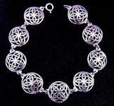 Armkette ~ SINTIA ~ Keltische Knoten - 18,5 cm - Silber - Windalf.de