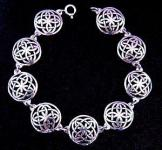 Celtic Armkette ~ SINTIA ~ 18.5 cm - Keltische Knoten Armband - Silber - Windalf.de