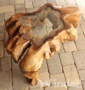 Wohnzimmertisch elan mit glasplatte unikat wurzeltische for Wohnzimmertisch glasplatte