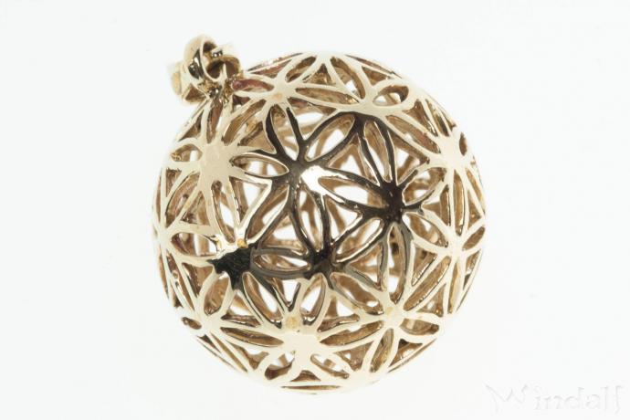 anh nger die blume des lebens zauberkugel bronze 925 silber und bronze elfen und. Black Bedroom Furniture Sets. Home Design Ideas