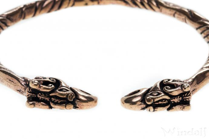Frauen Armreif ~ HUGIN & MUNIN ~ Odins Raben - Bronze - Windalf.de