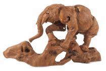 Holz Deko Mammut ~ MANI ~ h: 52 cm - Hangearbeitetes Unikat - Wurzelholz - Windalf.de