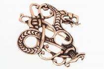 Fibel ~ MIDGA ~ Midgardschlange - Bronze - Windalf.de