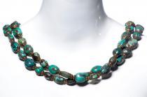 Königliche Kette ~ AUDREY ~ l: 160 cm - Vintage - Edle Perlen aus Türkis- Handarbeit - Unikat - Windalf.de