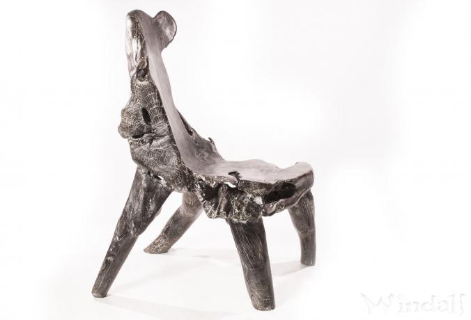 schwarzer sessel alva unikat wurzelholz st hle. Black Bedroom Furniture Sets. Home Design Ideas