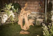 Rustikale Holzskulptur ~ DOBBY ~ 140 cm - Unikat aus Wurzelholz - Windalf.de