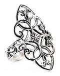 Mittelalter-Ring ~ FINJA ~ 2.5 cm - Zarte Ornamentik - Elfenring - Silber - Windalf.de