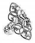Mittelalter-Ring ~ FINJA ~ 25 mm - Zarte Ornamentik - Elfenring - Silber - Windalf.de