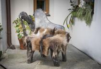 Schwarzer Hobbit Style Stuhl ~ AMAR ~ h: 99 cm - Handgearbeitetes Unikat - Windalf.de
