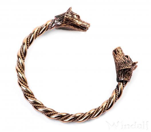 Armreif  Frauen Armreif ~ JANA ~ Odins Wölfe - Wikinger-Armreif - Bronze ...