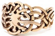 Ring Celtic ~ BILLEY ~ 14 mm - Nordischer Lebensbaum - Wunschring - Bronze - Windalf.de