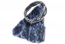 Kelten Ring ~ SKÅRA ~ h: 0.4 cm - Flecht-Muster - Handgearbeitet - Silber - Windalf.de