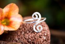 Celtic Spirals Zehenring ~ SPIRALA ~ h: 1.4 cm - Bohemia Midi-Ring - Silber - Windalf.de