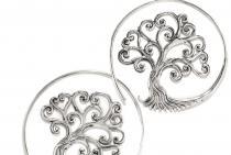 Große Celtic Ohrhänger ~ SCARLETT ~ Ø 4.3 cm - Kelten Ohrringe - Baum des Lebens - Silber - Windalf.de