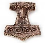 Anhänger ~ THYR ~ h: 4.1 cm - Großer Thorshammer - Schonenhammer - Bronze - Windalf.de
