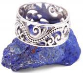 Celtic Elfen Ring ~ ALMINA ~ 9 mm - Lebensspiralen mit Ornamentik - Glücksring - Silber - Windalf.de