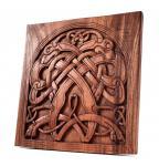 Großes Holzbild ~ VIKING ART ~ h: 32 cm - Runenstein - Handarbeit aus Holz - Windalf.de