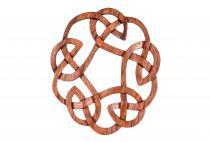 Keltischer Knoten ~ ROHANNY ~  Ø 27 cm - Keltisches Holz Wand Bild - Handarbeit aus Holz - Windalf.de