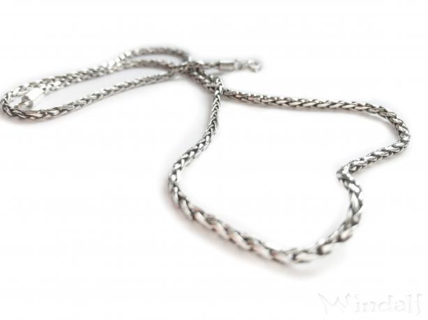 Vintage Halskette ~ FALKONA ~ l: 51 cm - Asatru Wikinger Kette - Handarbeit aus Silber - Windalf.de