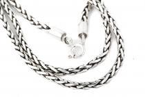Vintage Halskette ~ FALKONA ~ 51 cm - Asatru Wikinger Kette - Handarbeit aus Silber - Windalf.de