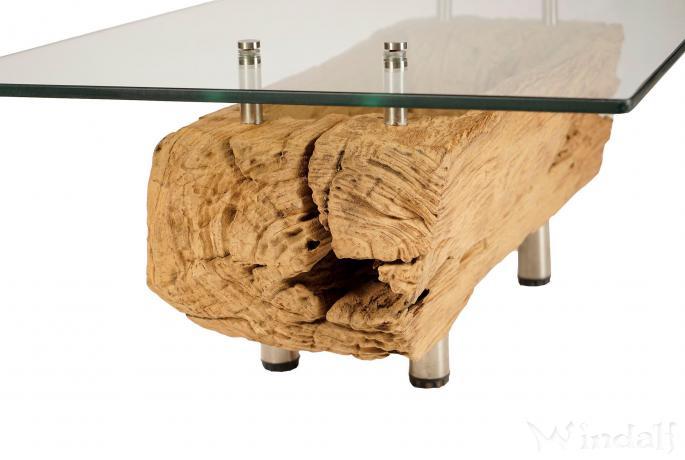 Antiker Wohnzimmertisch mit Glasplatte ~ SAMY ~ B: 73 cm H: 34 cm - Couchtisch - Unikat - Windalf.de
