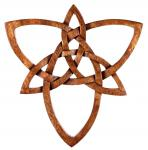 Celtic Holzbild ~ TRIANY ~ 28 cm - Triade & Knoten Glückssymbol - Irisches Wandornament - Handarbeit - Windalf.de