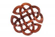 Pagan Celtic Holzbild Amulett ~ RIANE ~ Ø 25 cm - Keltisches Herz Glückssymbol - Handarbeit aus Holz - Windalf.de