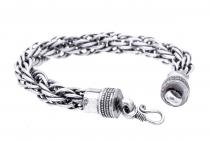 Wikinger Damen Armkette ~ AKINA ~ 23 cm - Flechtmuster Freundschafts Armband - Handarbeit aus Metall - Windalf.de