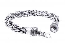 Wikinger Damen Armkette ~ AKINA ~ 23 cm - Flechtmuster - Handarbeit aus Metall - Windalf.de