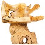 Natur Lounge Sessel ~ GARMADOCK BRANDYBOC ~ 80 cm - Vintage Holz Armsessel - Handarbeit aus Wurzelholz - Windalf.de