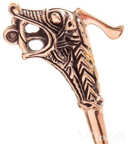 Wikinger Gewandnadel ~ OSEBERG ~ 7 cm - Historische Tuchnadel - Bronze - Windalf.de