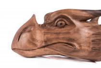 Großer Drachenkopf ~ LYNDI ~ b: 25 cm - Holz-Drache - Deko - Handarbeit - Windalf.de