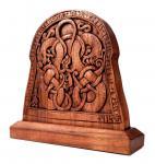 Wikinger Deko ~ RAGNOR ~ Vikings ~ 35 cm - Viking Bildstein - Handgearbeitet aus Holz - Windalf.de