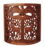 Holz Wand -Lampe ~ YGGDRASIL ~ h: 37 cm - Weltenbaum Flurleuchte - Handarbeit aus HOlz - Windalf.de